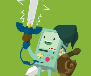 adventure time, bmo, and link image