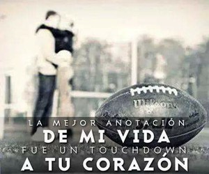 american football, love, and anotacion image