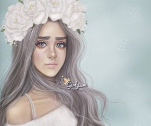 girly_m, flowers, and drawing image