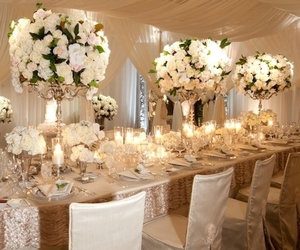 wedding, flowers, and table image