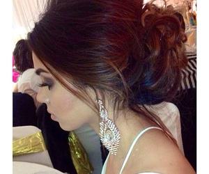 earrings, hair, and hairstyles image