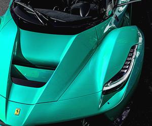car, ferrari, and green image