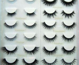 eyelashes, pretty, and fake image