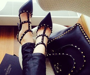 black, Valentino, and high heels image