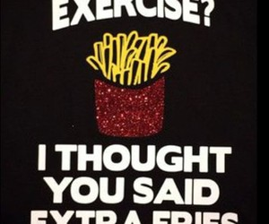 exercise, fries, and gym image