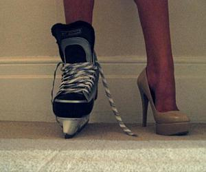 hockey, heels, and shoes image