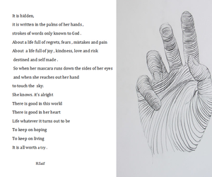 art, drawing, and poem image