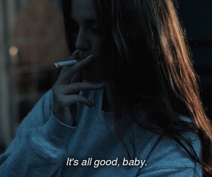 baby, bad girl, and cigarettes image