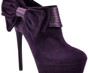 bow, purple, and shoes image