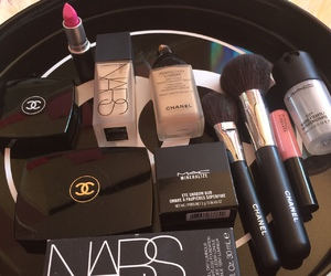 makeup, chanel, and nars image