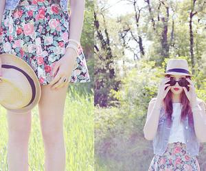 fashion, floral, and moda image