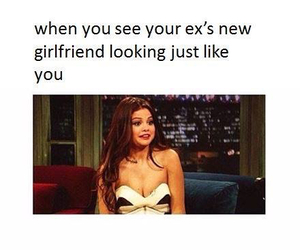 ex, looking, and funny image
