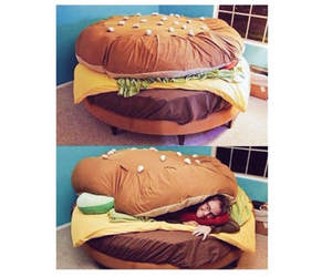 bed, burger, and epic image