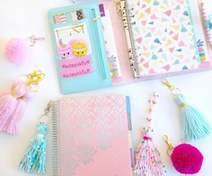 cute notebooks and diy keychain image