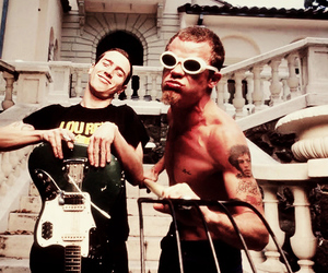 flea, John Frusciante, and red hot chili peppers image