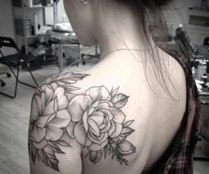beautiful, flowers, and tattooed image