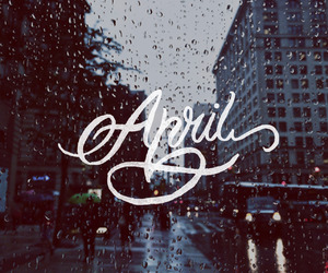 april, aries, and lettering image