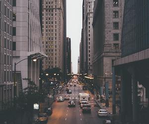 city, light, and car image