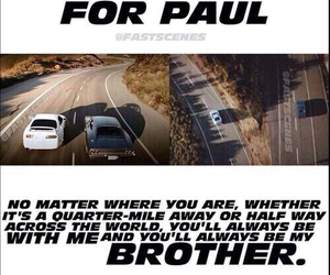 brothers, paul walker, and rip image