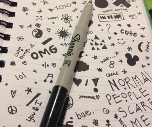 art, doodles, and drawing image