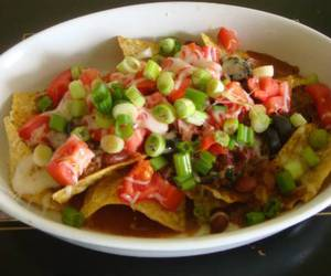 fast food, mexican, and nachos image
