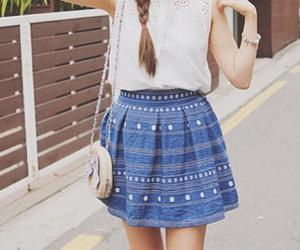 girl, outfit, and skirt image