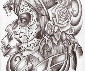 beautiful, day of the dead, and disegni image