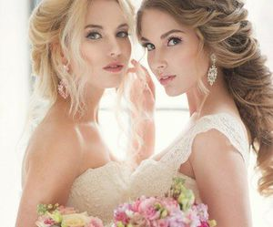 bridal, roses, and wedding image