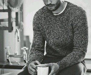 black and white, Jamie Dornan, and model image
