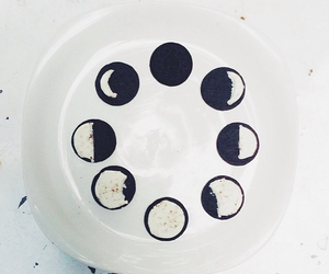black and white, hipster, and moon image