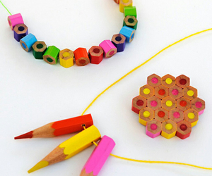 pencil, diy, and necklace image