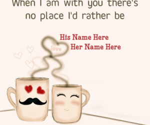 romantic love, couple cups, and cute love couple image