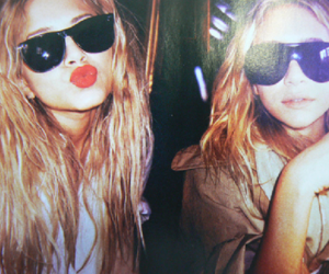 olsen, twins, and sunglasses image