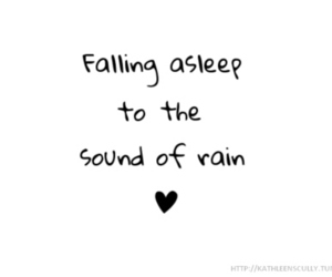 asleep, rain, and text image