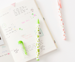 book, girly, and pen image