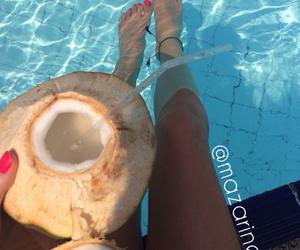 coconut, girl, and followme image