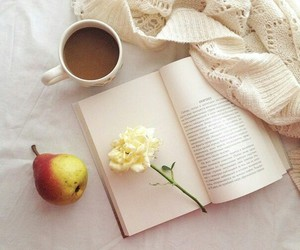 book, reason, and coffee image