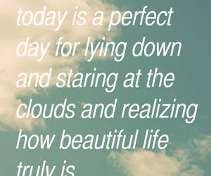 clouds, life, and text image