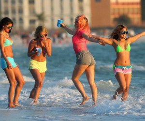 spring breakers, summer, and beach image