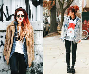 street style, winter fashion, and lua p image