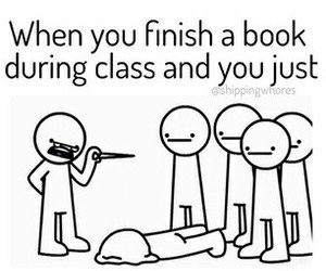 book, class, and funny image