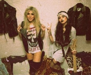 girl, grunge, and rock image
