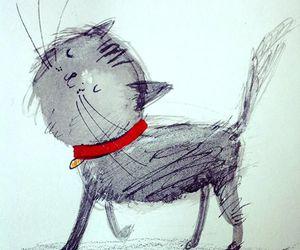 cat, illustration, and cat strut image