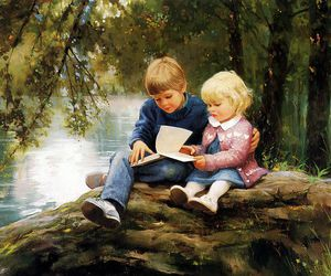 Oil Painting, painting, and beautiful oil paintings image