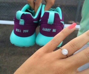 love, nike, and ring image
