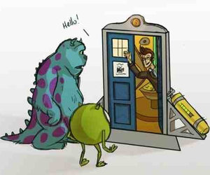 doctor who, monsters inc, and disney image