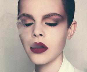 fashion, smoke, and girl image