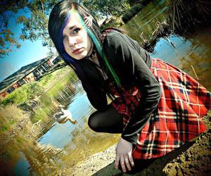 alt model, coloured hair, and scene girl image