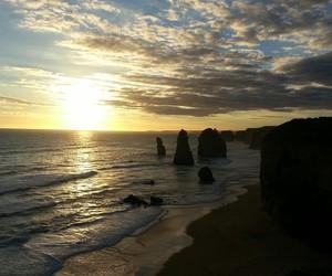 australia, nature, and sunset image