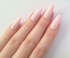 finger, pink, and girl image